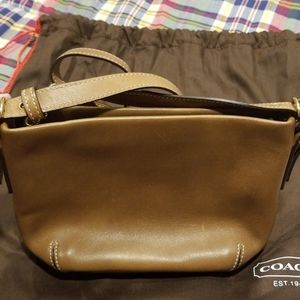 Coach Bags - Vintage Coach Brown Leather Mini Bag